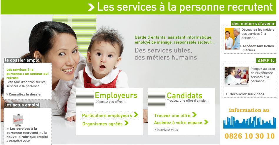 D posez vos offres d emplois ou cv sur le site de l ansp for Salon service a la personne