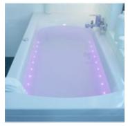baignoire éclairée
