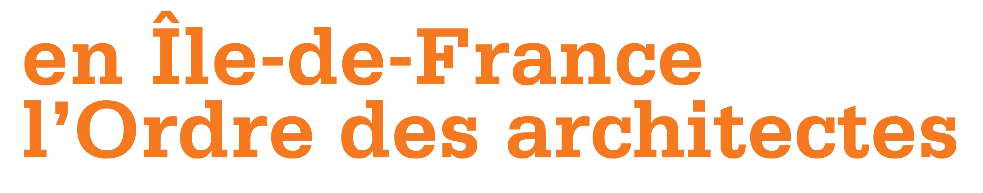 Ordre architectes idf for Architectes de france